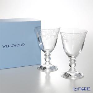 ウェッジウッド(Wedgwood) フェスティビティ クリスタル ワイン 200cc ペア ワイングラス|le-noble