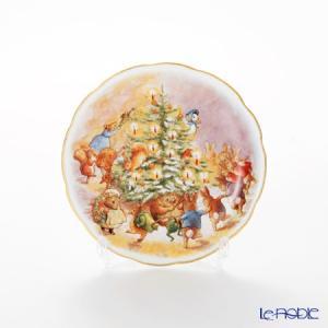 ロイター・ポーセリン ビアトリクスポター クリスマスパーティー 52561/3 プレート 10cm ...