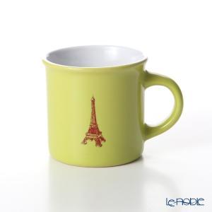 Nothing as Paris ミニマグカップ(黄緑/白/濃赤) アウトドア キャンプ|le-noble
