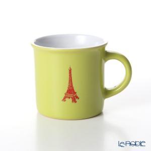 Nothing as Paris ミニマグカップ(黄緑/白/赤) アウトドア キャンプ|le-noble