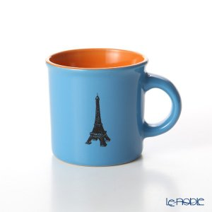 Nothing as Paris ミニマグカップ(水色/オレンジ/黒) アウトドア キャンプ|le-noble