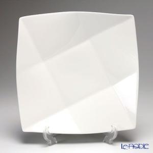 プリモビアンコ 白の器 スクエア ディーププレート(L) 27cm|le-noble