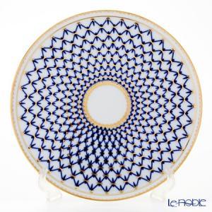 ロシア食器 インペリアル・ポーセリン コバルトネット ケーキプレート 30cm 皿|le-noble