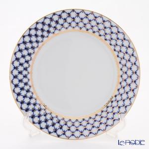 ロシア食器 インペリアル・ポーセリン コバルトネット プレート 27cm 皿|le-noble
