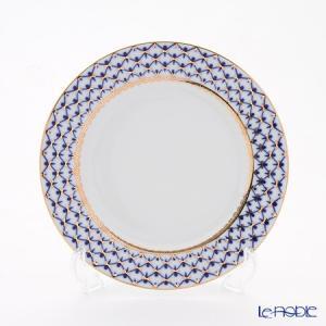 ロシア食器 インペリアル・ポーセリン コバルトネット プレート 21.5cm 皿|le-noble