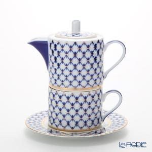 ロシア食器 インペリアル・ポーセリン コバルトネット ティーフォーワン|le-noble