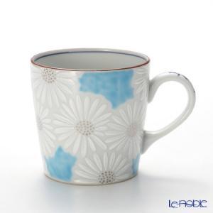 京焼・清水焼 マグカップ K0723 白菊青地 敬老の日|le-noble