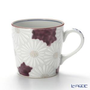 京焼・清水焼 マグカップ K0724 白菊紫地 敬老の日|le-noble