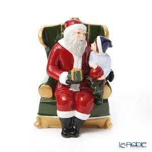 ビレロイ&ボッホ(Villeroy&Boch) クリスマストイズ オルゴール 椅子の上のサンタ 6636 フィギュリン|le-noble