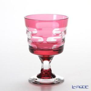 八千代切子 LS29801SAU-C592 冷酒盃 春霞(はるがすみ) 金赤 97ml  グラス