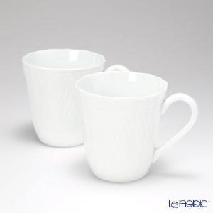 ノリタケ シェール ブラン マグカップ ペアセット P94854/1655 白い器|le-noble