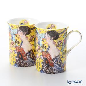 プリモビアンコ アートコレクション マグ ペア クリムト 「扇子を持つ女性」|le-noble