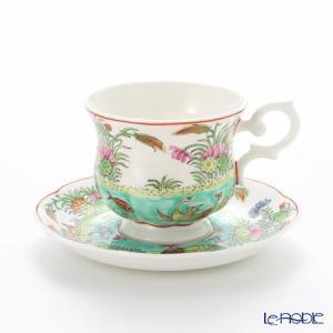 ベンジャロン焼工房 ピンスワン 海の風景 ティーカップ&ソーサー