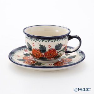 ポーリッシュポタリー(ポーランド陶器) ボレスワヴィエツ ティーカップ&ソーサー 220ml/16cm 775/836/198AR アフタヌーンティー|le-noble