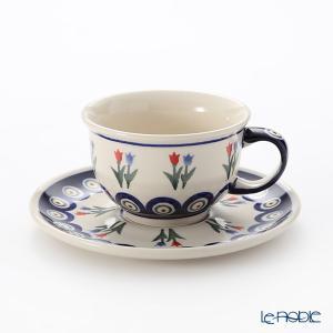 ポーリッシュポタリー(ポーランド陶器) ボレスワヴィエツ ティーカップ&ソーサー 220ml/16cm 775/836/809 アフタヌーンティー|le-noble