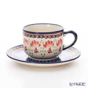 ポーリッシュポタリー(ポーランド陶器) ボレスワヴィエツ ティーカップ&ソーサー 210ml/16cm 886/883/DU184 アフタヌーンティー|le-noble