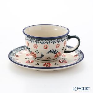 ポーリッシュポタリー(ポーランド陶器) ボレスワヴィエツ ティーカップ&ソーサー 220ml/16cm 775/836/1072A アフタヌーンティー|le-noble