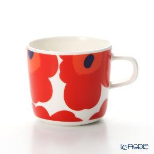 マリメッコ(marimekko) Unikko ウニッコ コーヒーカップ ホワイト×レッド200ml|le-noble