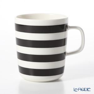 マリメッコ(marimekko) Tasaraita タサライタ/横縞 18SS マグカップ ブラック×ホワイト 250ml|le-noble