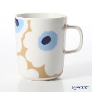 マリメッコ(marimekko) Unikko ウニッコ 18SS マグカップ ベージュ×オフホワイト×ブルー 250ml|le-noble