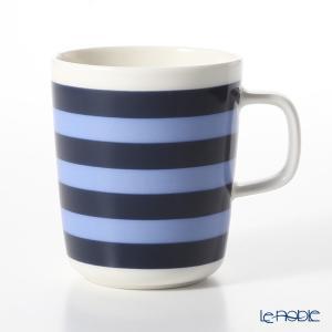 マリメッコ(marimekko) Tasaraita タサライタ/横縞 18SS マグカップ ダークブルー×ライトブルー 250ml|le-noble