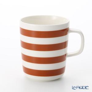 マリメッコ(marimekko) Tasaraita タサライタ/横縞 18AW マグカップ ホワイト×ブラウン 250ml|le-noble