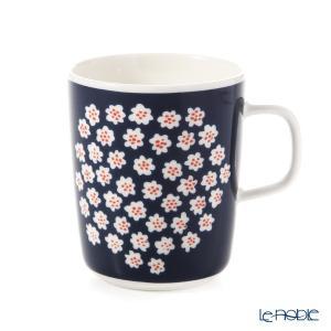 マリメッコ(marimekko) Puketti プケッティ/花束 マグカップ(ダークブルー×ホワイト×レッドブラウン) 250ml 068354-513 19AW|le-noble
