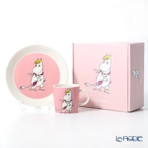 アラビア(ARABIA) ムーミンコレクション フローレン(SNORKMAIDEN) ピンク プレート&マグ2ピースセット 北欧|le-noble