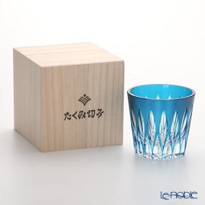 創作薩摩切子 剣菱 オールド(小) ブルー 2006-6-B 敬老の日|le-noble