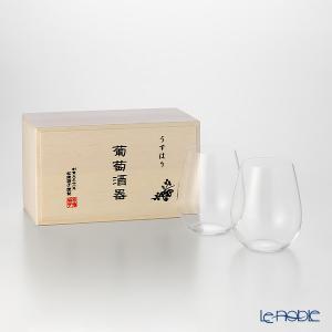松徳硝子 うすはり 葡萄酒器 ボルドー 2個  ワイングラス|le-noble