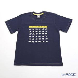 ジムトンプソン 子供服 Tシャツ S(4-7歳) ホワイトゾウ36/ダークブルー|le-noble