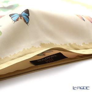 ジムトンプソン クッションカバー シルク フリル 0258A 南国の鳥/花/蝶 ベージュ|le-noble|02