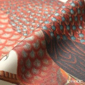 ジムトンプソン クッションカバー シルク フリル 0258A 南国の鳥/花/蝶 ベージュ|le-noble|03
