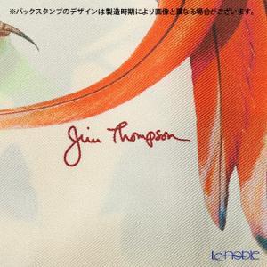 ジムトンプソン クッションカバー シルク フリル 0258A 南国の鳥/花/蝶 ベージュ|le-noble|04