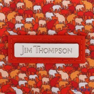 ジムトンプソン オーバルポーチ 1136360B ドロップ レッド/オレンジ/ホワイト|le-noble|04