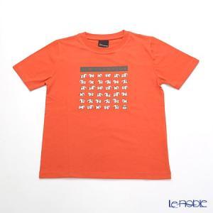 ジムトンプソン 子供服 Tシャツ S(4-7歳) ホワイトゾウ36/オレンジ|le-noble