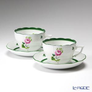 ヘレンド(Herend) ウィーンのバラ 00730-0-00/730 ティーカップ&ソーサー(兼用) 200cc ペア アフタヌーンティー|le-noble