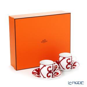 エルメス ガダルキヴィール コーヒーカップ&ソーサー 90ml ペア|le-noble