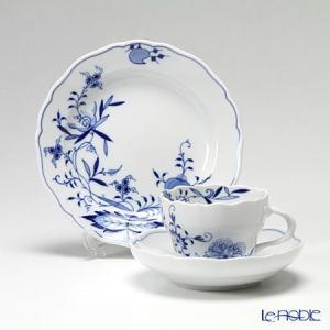 マイセン ブルーオニオン スタイル トリオセット(コーヒーカ...