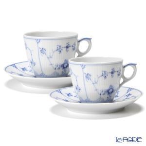ロイヤルコペンハーゲン ブルー フルーテッド プレイン コーヒーカップ&ソーサー 160cc ペア 1101071/1017173|le-noble