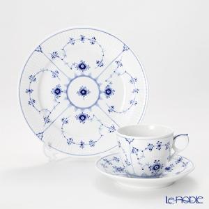 ロイヤルコペンハーゲン ブルー フルーテッド プレイン トリオセット(コーヒー)|le-noble