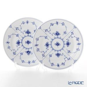 ロイヤルコペンハーゲン ブルー フルーテッド プレイン プレート(フラット) 19cm ペア 1101620/1017199 皿|le-noble