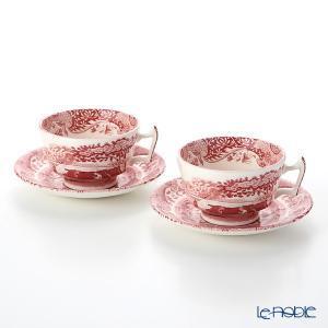 スポード クランベリーイタリアン ティーカップ&ソーサー ペア アフタヌーンティー|le-noble