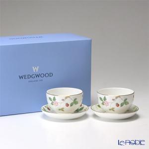 ウェッジウッド(Wedgwood) ワイルドストロベリー ジャパニーズティーカップ&ソーサー ペア|le-noble