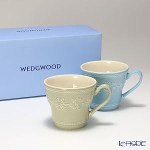 ウェッジウッド(Wedgwood) フェスティビティ マグ 300cc(セージグリーン&ブルー) ペア|le-noble