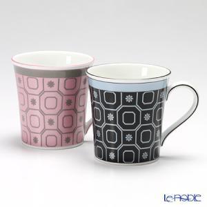 ウェッジウッド(Wedgwood) パラディオ マグ 300cc(ピンク&ブルー) ペア|le-noble