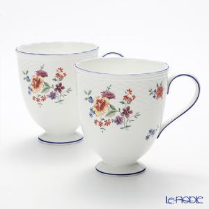 ウェッジウッド(Wedgwood) タフェッタ フラワー マグカップ(リー) 300cc ペア|le-noble