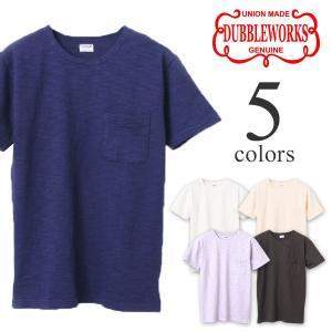 ダブルワークス Tシャツ DUBBLEWORKS スラブ半袖Tシャツ 37003|lea-rare