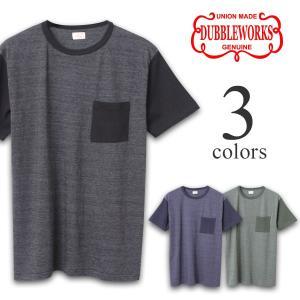 ダブルワークス Tシャツ DUBBLEWORKS 2トーンポケットTシャツ 37004|lea-rare