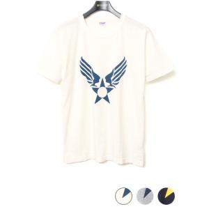 ダブルワークス DUBBLEWORKS 34003 プリントTシャツ [AIR FORCE MARK]|lea-rare